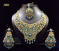 Artificial Heavy Colored Stone Bridal Set