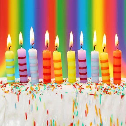 Multicolor Birthday Celebration Candle