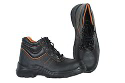 Black Tek Tron Commando Leather Safety Shoes, For Industrial
