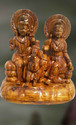 Wooden Sculpture of Parvathi And Shiva