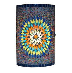 Blue Mosaic Wall Lamp