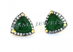 Green Onyx Stone Earring