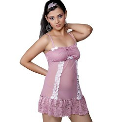 Short Purple Baby Doll Nightwear 519