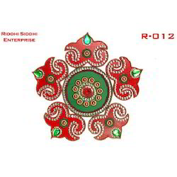 Riddhisiddhi Decoration Wooden Rangoli