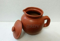 Red RDV Clay Water Jug, Size: 1 Liter