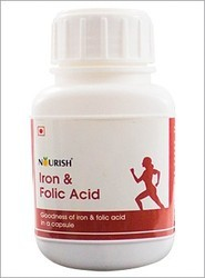 Nourish Iron Folic Acid Tablet, Packaging Size:60 Capsule