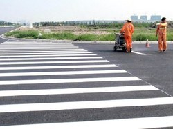 Center Line Thermoplastic Road Marking Services