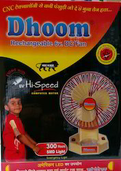 Dhoom 6VDC Rechargeable Fan
