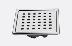 SS Bathroom Rectangular Floor Drain