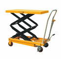 Mild Steel Hydraulic Scissors Lift Table with Wheels