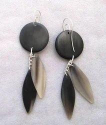 None Branded Natural Horn Earrings
