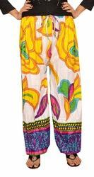 Yellow Cotton Harem Pants