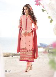 528016a9ff3eb The Gorgeous Looking Peach Color Dress Material at Rs 1020 /piece ...