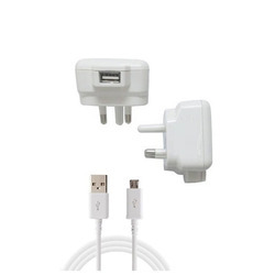 White Electric Mobile Charger