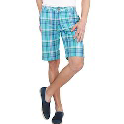 Tiffany Blue Plaid Men Shorts