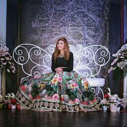 Designer China Rose Lehenga