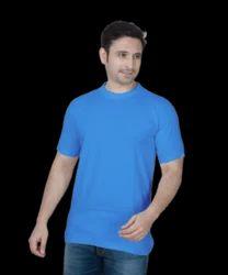 Sky Blue Basic Round Neck T Shirts