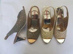 d5144ddd5 Antique Golden Metro Sheet Fancy Heel Sandal