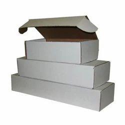 Plain White Folding Corrugated Boxes