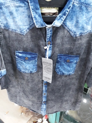Men Casual Denim Shirt