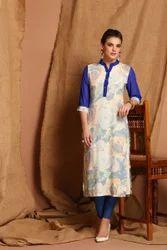 Cotton Casual Wear SK 1632 Printed Long Kurti, Wash Care: Machine wash