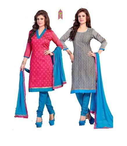 b1eed86ca4 salwar kameez churidar materials - Unstitched-Double Top Branded ...