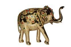 Brass Stone Elephant Statue