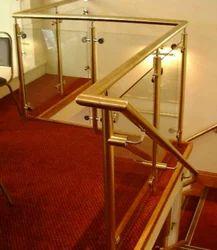 Round Brass Handrail