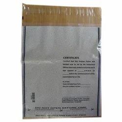 Plain White, Black Single Sided Transparent Plastic Envelope