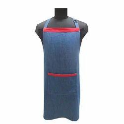 Blue plain syed Denim Cotton Apron, For Kitchen, Size: Medium