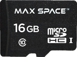 MaxSpace 16 GB SDHC Memory Card With Adapter