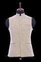 Beige Cotton Jute Waistcoat