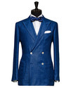 Dark Blue Glencheck Tuxedo Suits