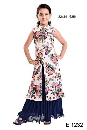 Indo Western Pattern Girls Stylish Wear, Children Wear - Bingo ...
