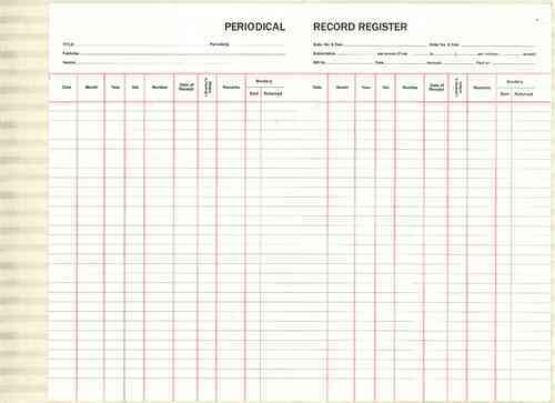 Periodical Record Register