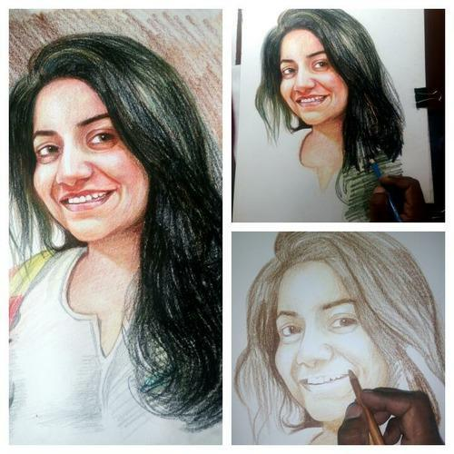 Product image read more · colour pencil portrait