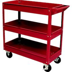 Mild Steel Red 3 Tray Tool Trolley, For Automobile, Model Name/Number: sen5944030k