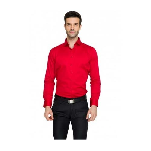 Teemper Men  s Red Formal Shirt 9f3739993ee