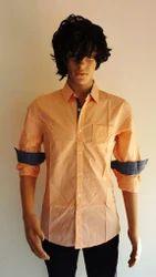 Cotton/Linen And Polyester/Nylon Men's Casual Shirt