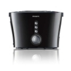 Philips Black Silver Viva Collection Pop Up Toaster