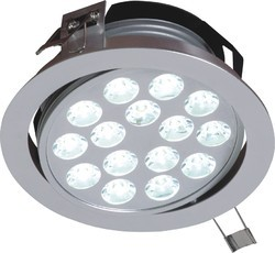 Ceramic Cool White Syska Flexible LED Downlight, IP55, 12 W