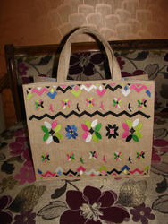 Jute Embroidery Tote Bag