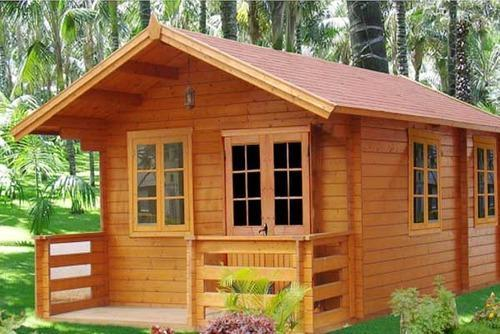 Prefabricated Wooden Cottage Construction