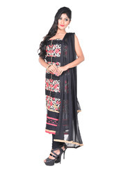 Black Cotton Salwar Suit