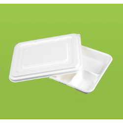 Bio Degradable Disposable Compartment Tray