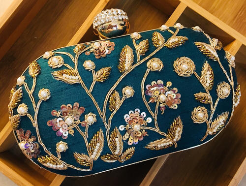 Female Green Evening Clutch Bag