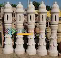 Pillar Lamps In Pink Sandstone