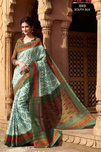 56171097d615fa Floral Print Formal Wear Wedding Bazaar Chulbuli Printed Saree