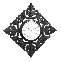 Wood Polish Carving Clock