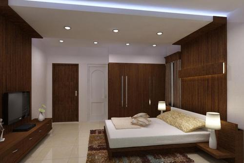 Cool White Chrome Bedroom Ceiling Lights